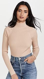 alice + olivia Irena Mock Neck Rib Sweater