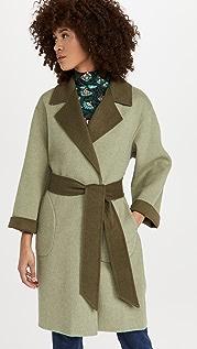 alice + olivia Tomiko Reversible High Lo Belt Coat
