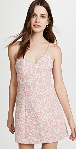 alice + olivia - Tayla Structured Lantern Mini Dress