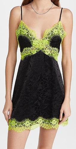 alice + olivia - Zaira Empire Waist Lace Trim Dress