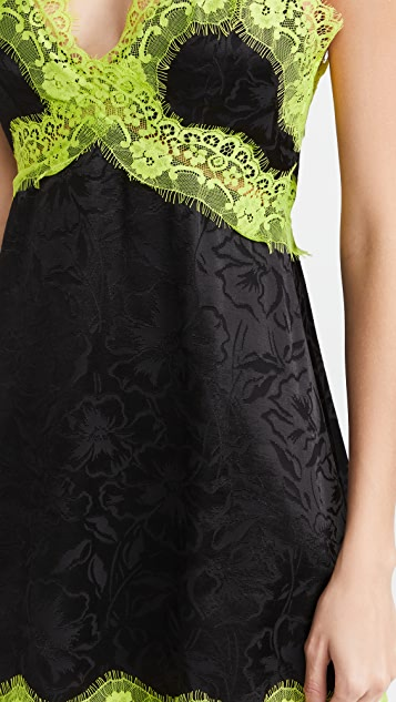 alice + olivia Zaira Empire Waist Lace Trim Dress