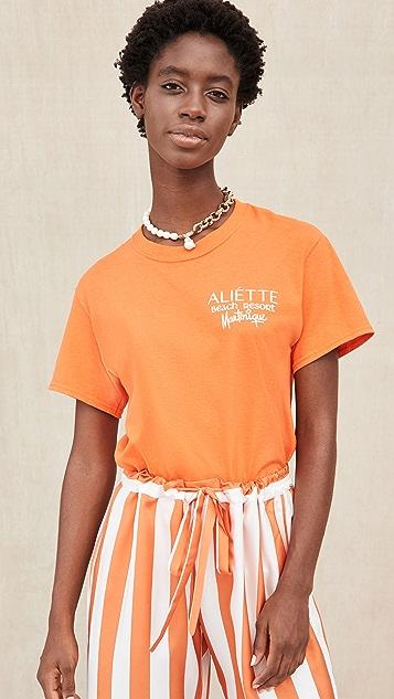 Aliette Aliette Logo Crew Neck Tee