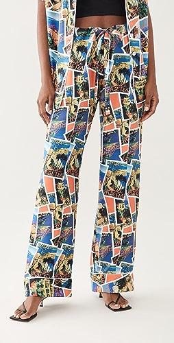 Aliette - Postcard Print Pants