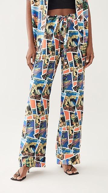 Aliette Postcard Print Pants
