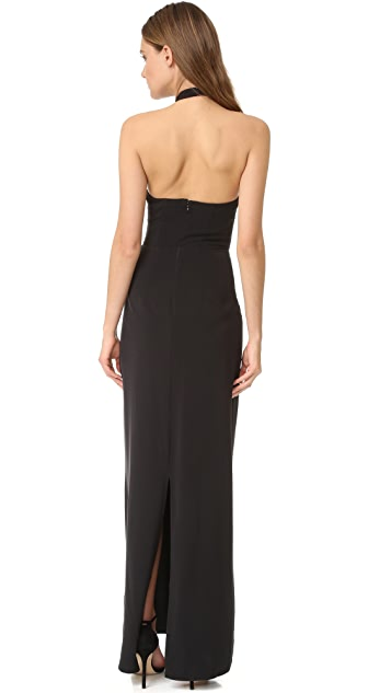 Ali & Jay Keyhole Halter Gown