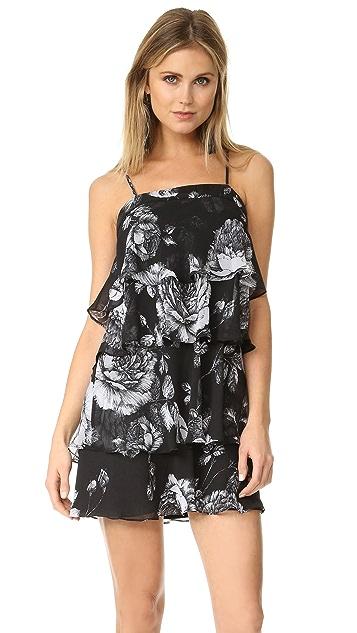 Ali & Jay Floral Tiered Flounced Mini Dress