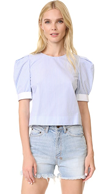 Adam Lippes Puff Sleeve Top