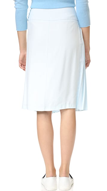 Adam Lippes Pleat Front Skirt