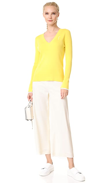 Adam Lippes Cropped Pants with Patch Pockets