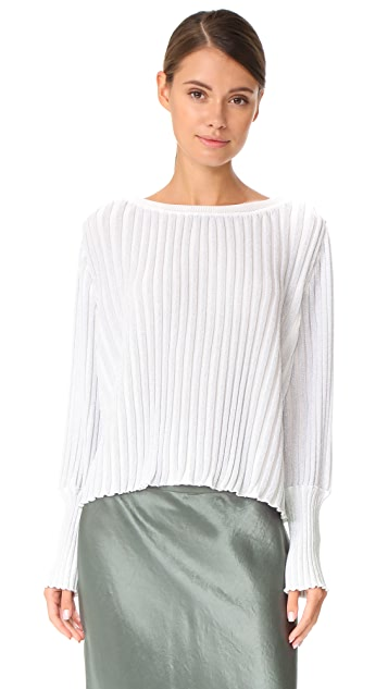 Adam Lippes Ribbed Knit Sweater