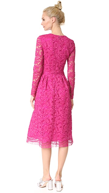 Adam Lippes Long Sleeve Midi Dress