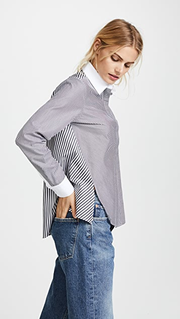 Adam Lippes Long Sleeve Trapeze Top