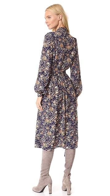Adam Lippes Long Sleeve Scarf Dress