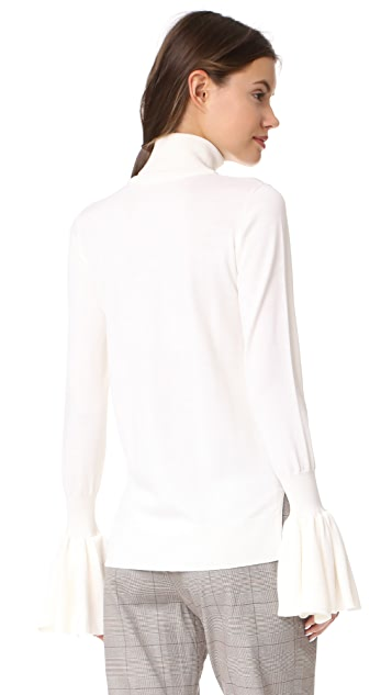 Adam Lippes Bell Sleeve Turtleneck