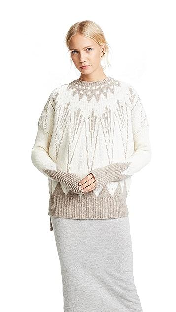 Adam Lippes Kashmir Fair Isle Sweater