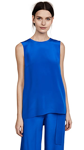 Adam Lippes Silk Crepe Tunic with Pleat Back
