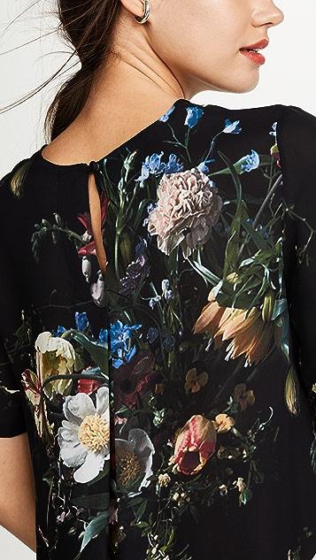 Adam Lippes Floral Silk Tee