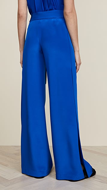 Adam Lippes Silk Crepe Wide Leg Pants