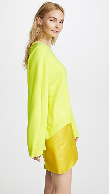 Adam Lippes Double Face Sweater with Balloon Sleeves