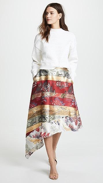 Adam Lippes Side Swag Skirt