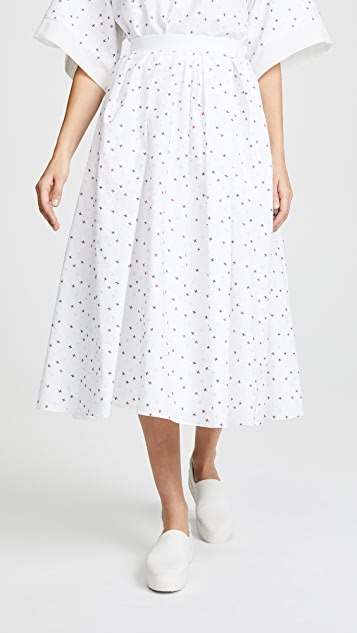 Adam Lippes Gathered Midi Skirt
