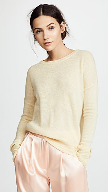 Adam Lippes Brushed Cashmere Sweater - Butter