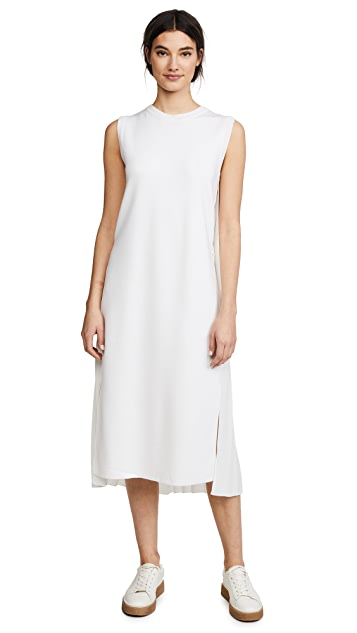 Adam Lippes Sleeveless Pleat Back Dress