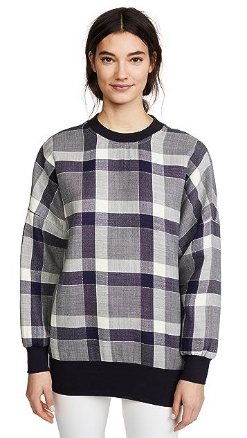 Adam Lippes Oversize Gingham Sweatshirt