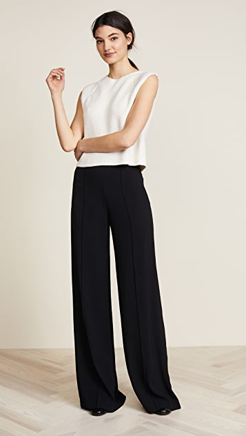 Adam Lippes High Waist Wide Leg Pants