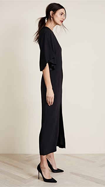 Adam Lippes Flounce Sleeve Midi Dress