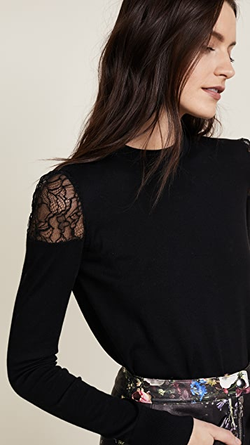 Adam Lippes Lace Crew Neck Sweater