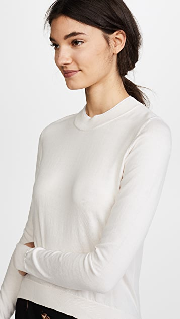 Adam Lippes Double Rib Crew Neck Sweater