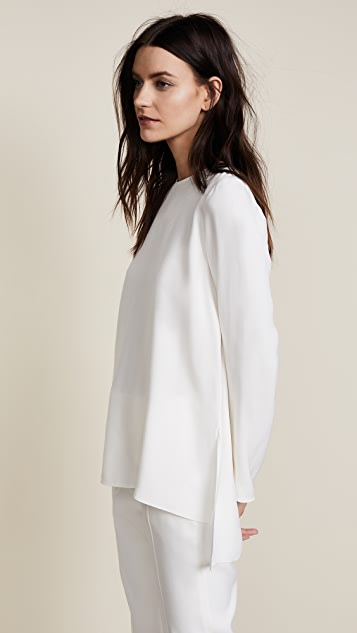 Adam Lippes Crew Neck Satin Tunic