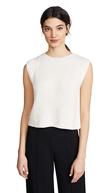 Adam Lippes Ribbed Cropped Sweater Tank