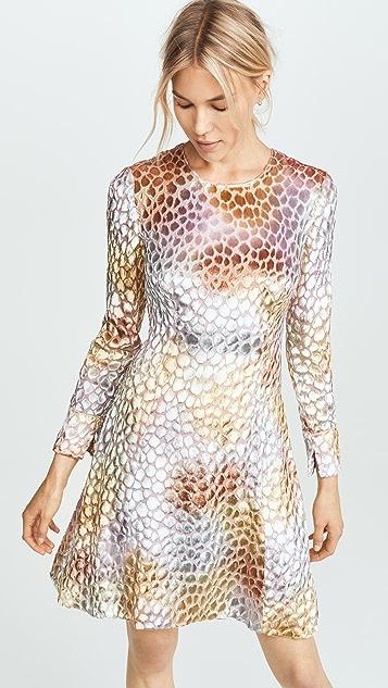 Adam Lippes Burnout Velvet Dress