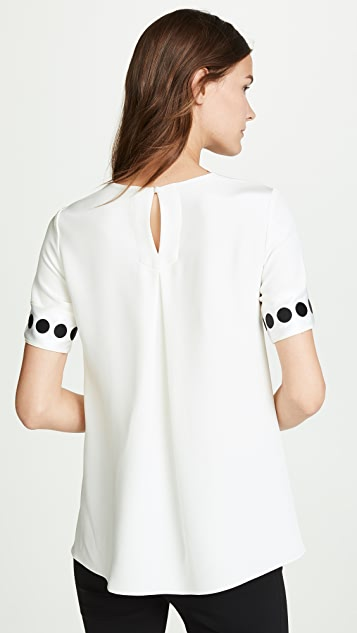 Adam Lippes T-Shirt with Ribbon Cuffs
