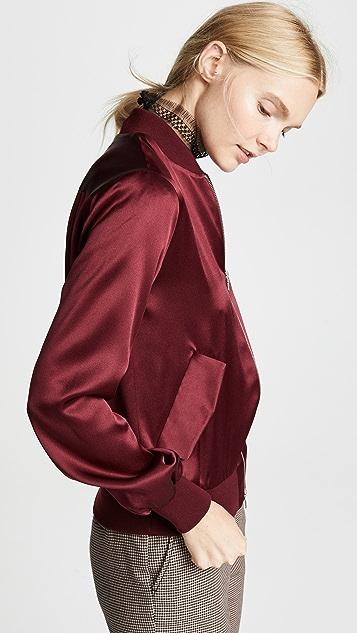 Adam Lippes Silk Bomber Jacket