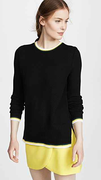 Adam Lippes Slim Crew Neck Sweater
