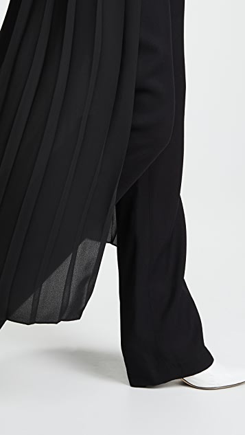 Adam Lippes Tuxedo Pants with Pleated Skirt