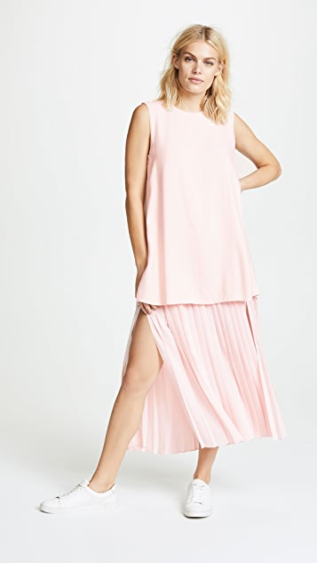 Adam Lippes Double Layer Pleated Dress