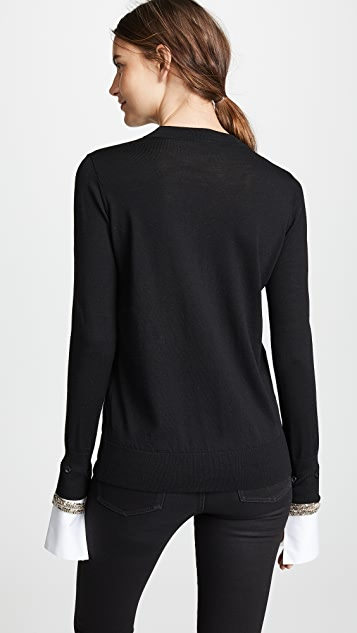 Adam Lippes Crystal Cuff Sweater