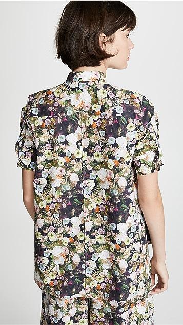 Adam Lippes Printed Poplin Trapeze Shirt