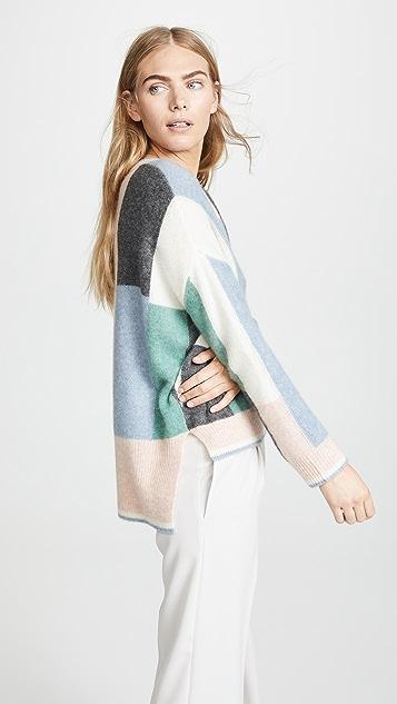 Adam Lippes Colorblock Cashmere Sweater