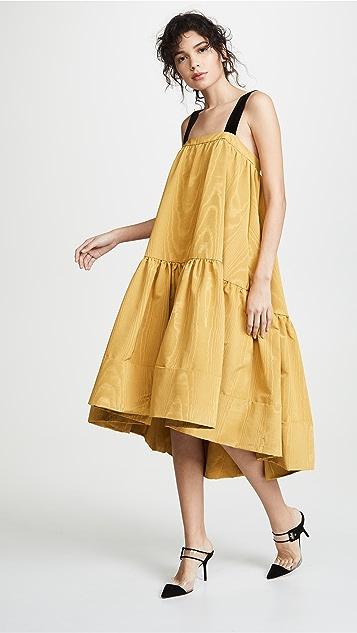 Adam Lippes Многоуровневое миди-платье