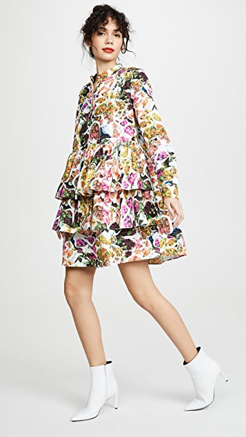 Adam Lippes Tiered Ruffle Mini Dress
