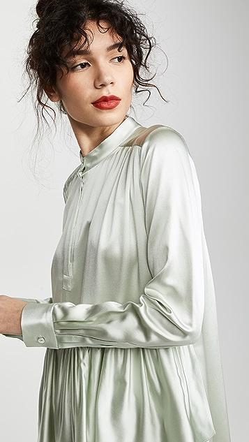Adam Lippes Многоуровневое платье с оборками