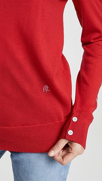 Adam Lippes Intarsia Crew Neck Sweater