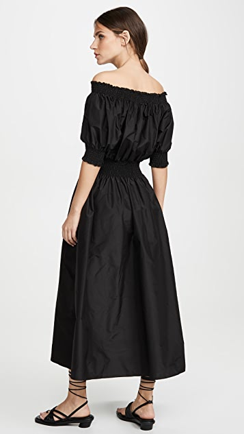 Adam Lippes Присборенное платье из тафты