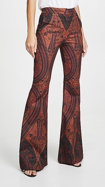 Adam Lippes Расклешенные брюки с высокой талией и принтом