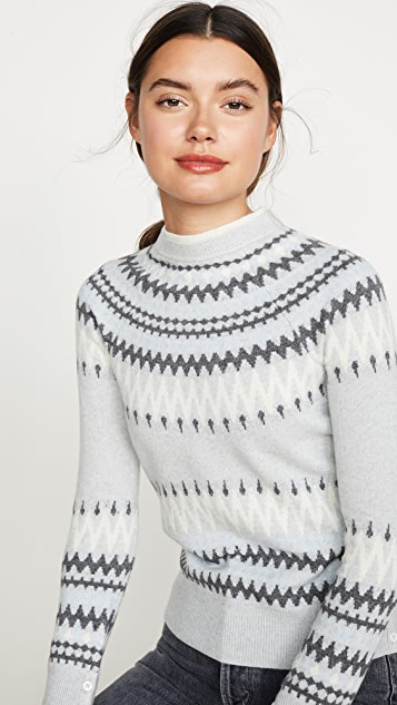 Cashmere Fair Isle Crew Sweater by Adam Lippes